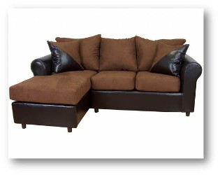 Chocolate Economy Sofa Set - HAU Furniture