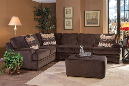 OLYMPIAN CHOCOLATE SECTIONAL