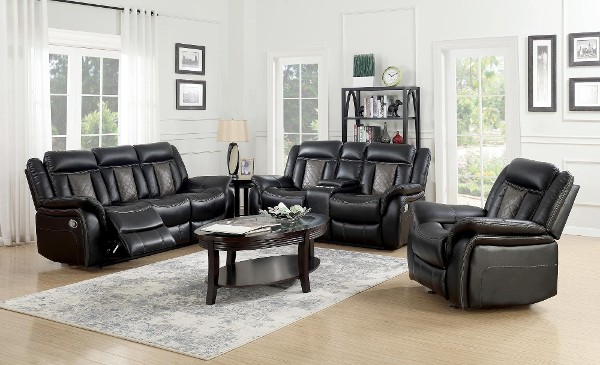 NASH Motion Sofa Loveseat & Recliner