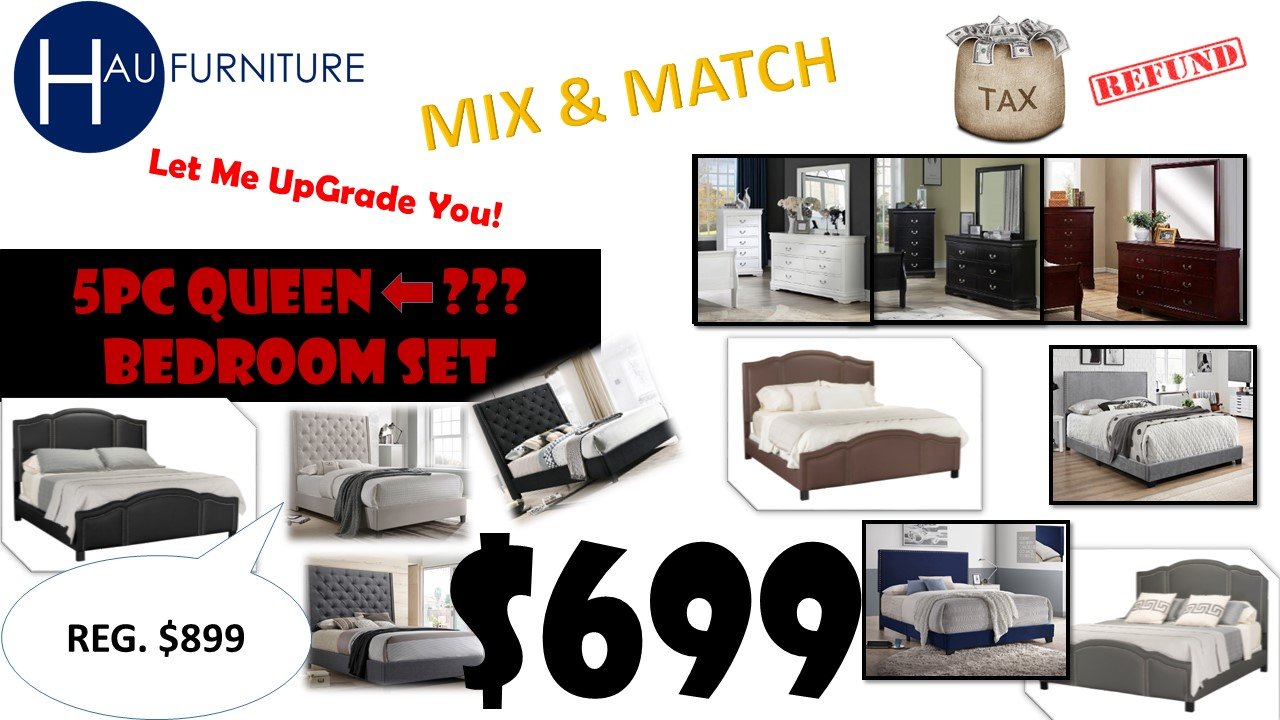 Mix & Match 5pc Queen Bedroom Sale