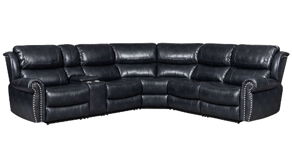Ellis Charcoal Navy Motion Sectional