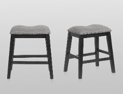 MASKEY BLACK COUNTER HEIGHT STOOLS