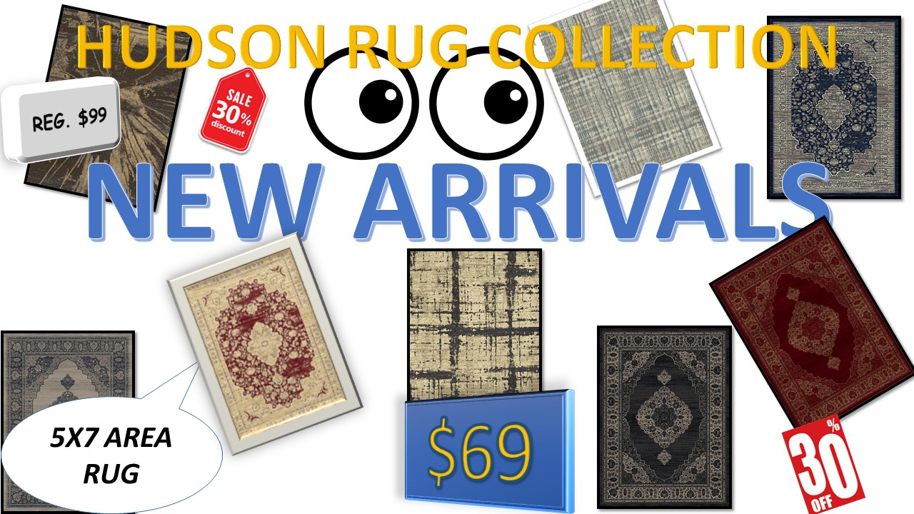 30% DISCOUNT ON HUDSON AREA RUG COLLECTION