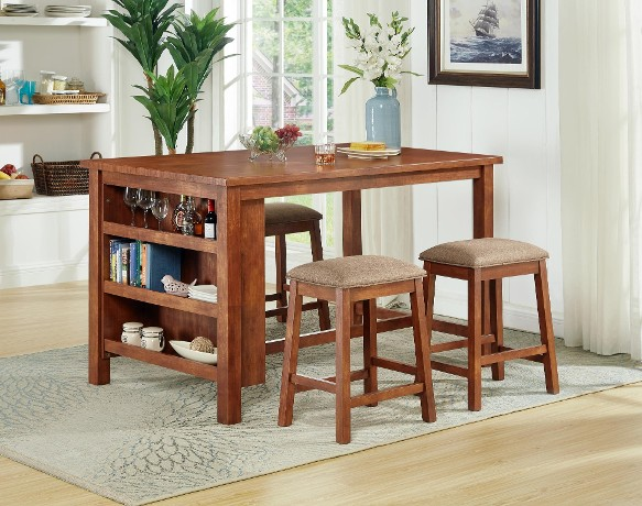 5PC WOODEN PUB SET W/ SHELF $449