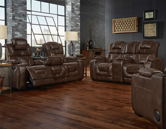 Desert Chocolate Power Sofa & Loveseat $2499